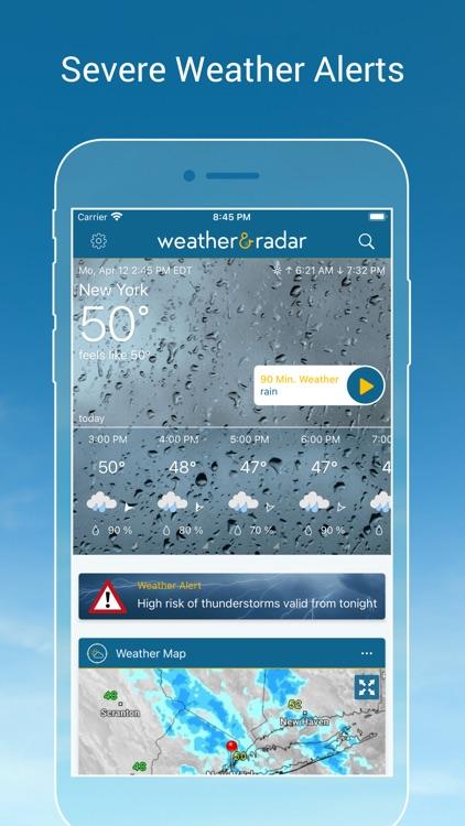 Weather & Radar - Storm alerts screenshot-4