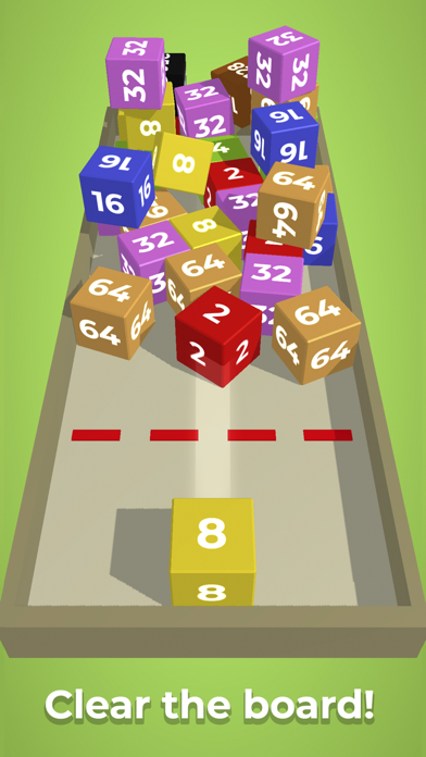 Chain Cube: 2048 3D merge game for windows pc