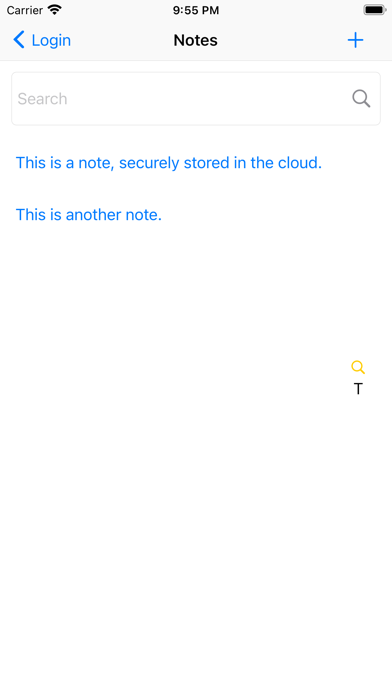 Dualock: Secure Note Screenshots