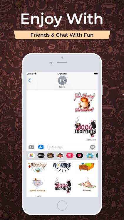 Good Morning Coffee Stickers screenshot-3