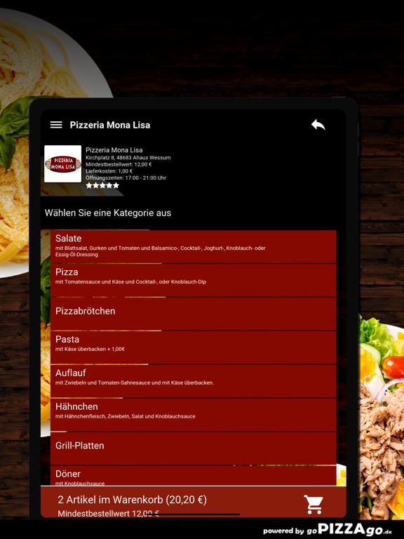 Pizzeria Mona Lisa Wessum screenshot 8