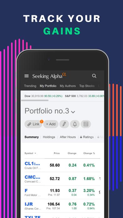 Seeking Alpha: биржа и новостиСкриншоты 1