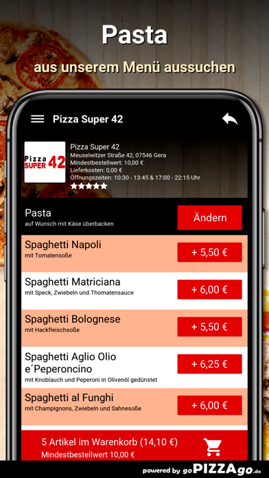 Pizza Super 42 Gera screenshot 5