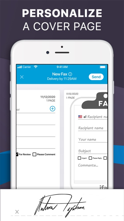 iFax: Fax from iPhone ad free screenshot-3