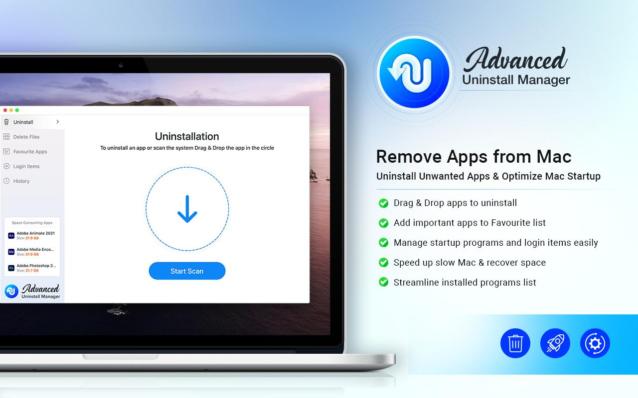 Advanced Uninstall Manager 2.4 Mac 破解版 专业mac卸载工具