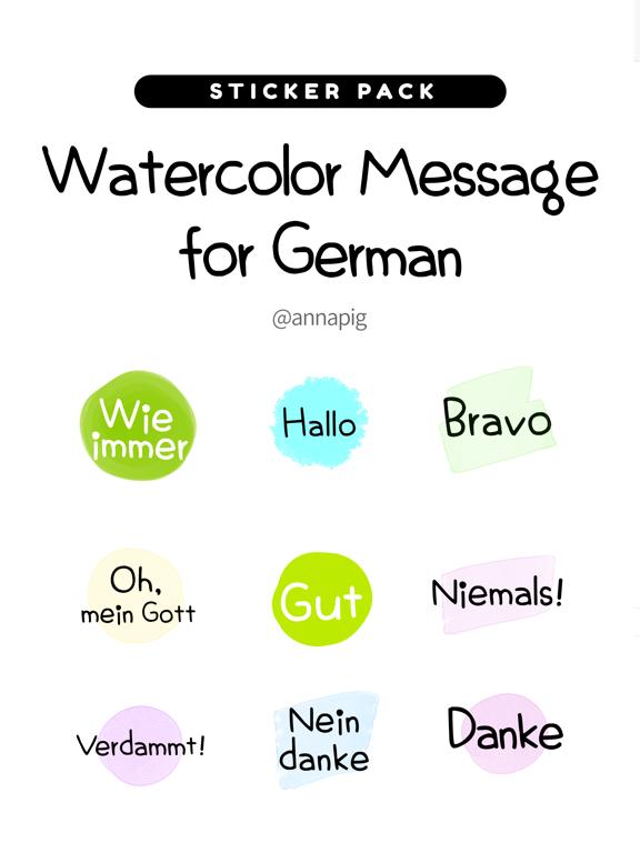Watercolor Message for German2 screenshot 4