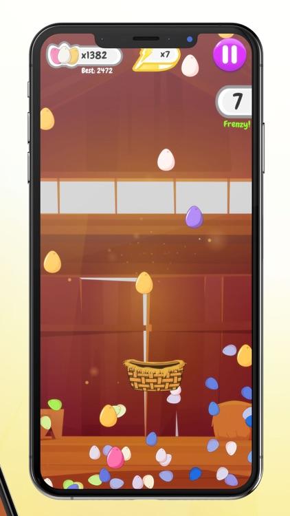 Egg Rain - Collect in basket screenshot-4