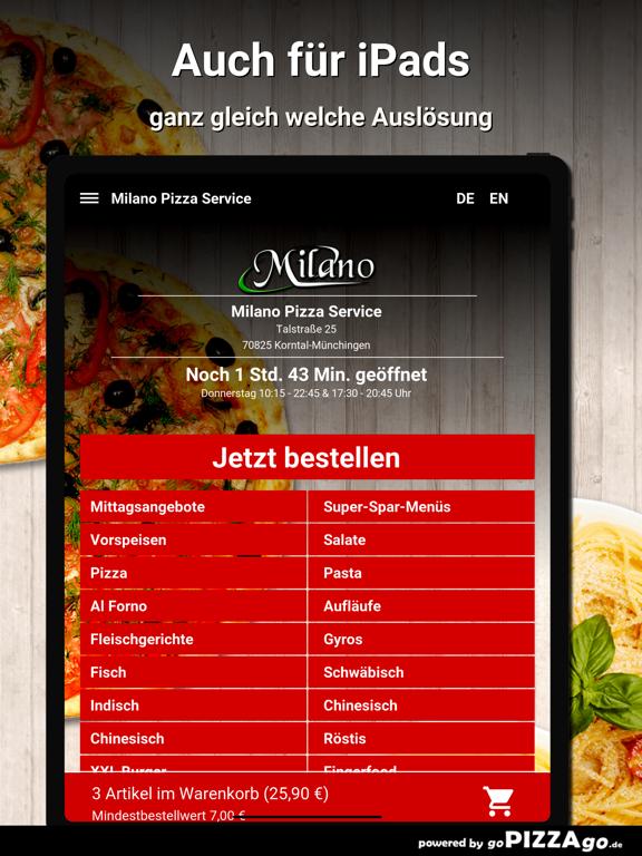 Milano Pizza Service Korntal screenshot 7