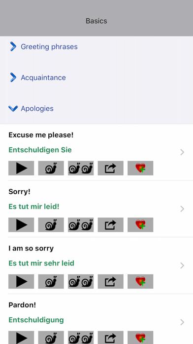 Wordy German Phrasebook screenshot two