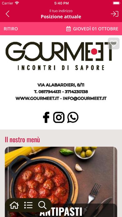 Gourmeet screenshot 2
