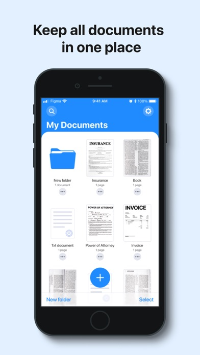 uScan - PDF Document Scanner Screenshot