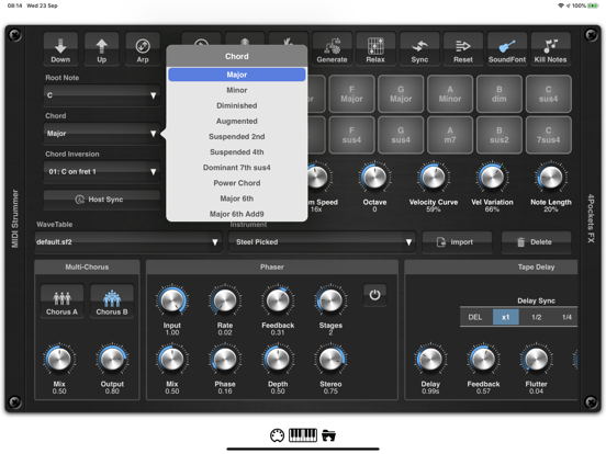 MIDI Strummer AUv3 Plugin screenshot 8