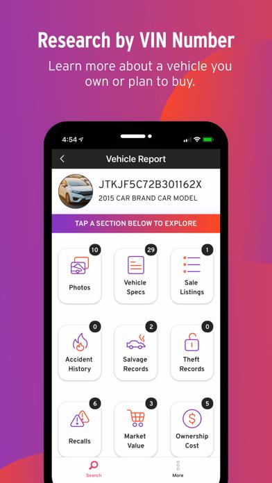 Bumper: Vehicle History Report Screenshot