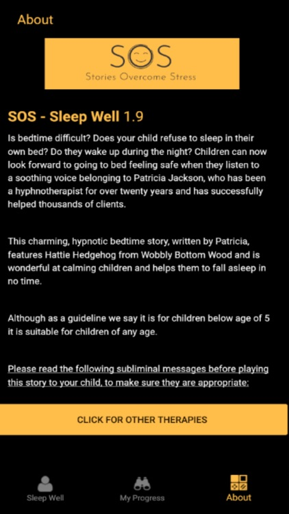 Sleep Well 4 Your Child - SOS screenshot-3