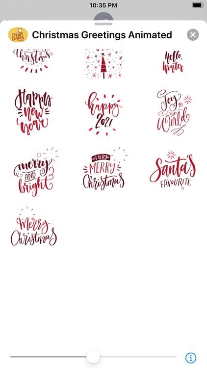 Christmas Greetings Animated screenshot-3