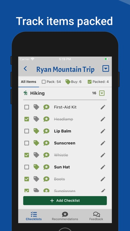 Camping-Checklist screenshot-2