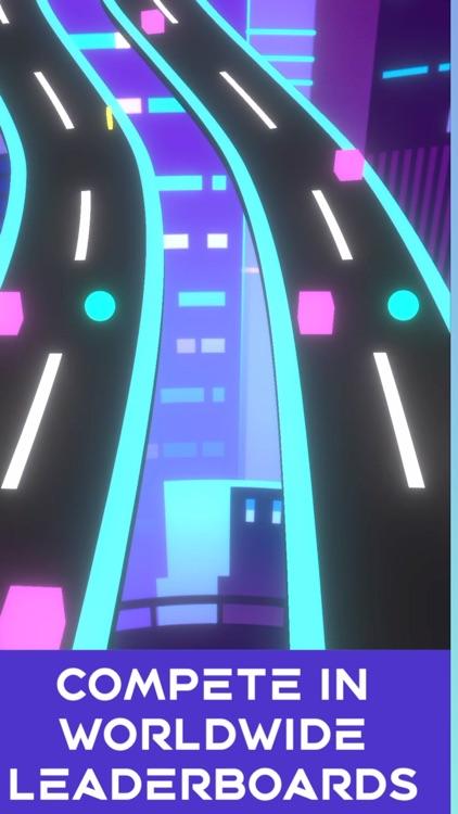 Neon Rush: Color Ball Road Run screenshot-3