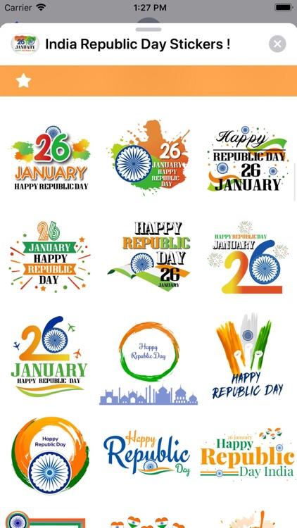 India Republic Day Stickers ! screenshot-7