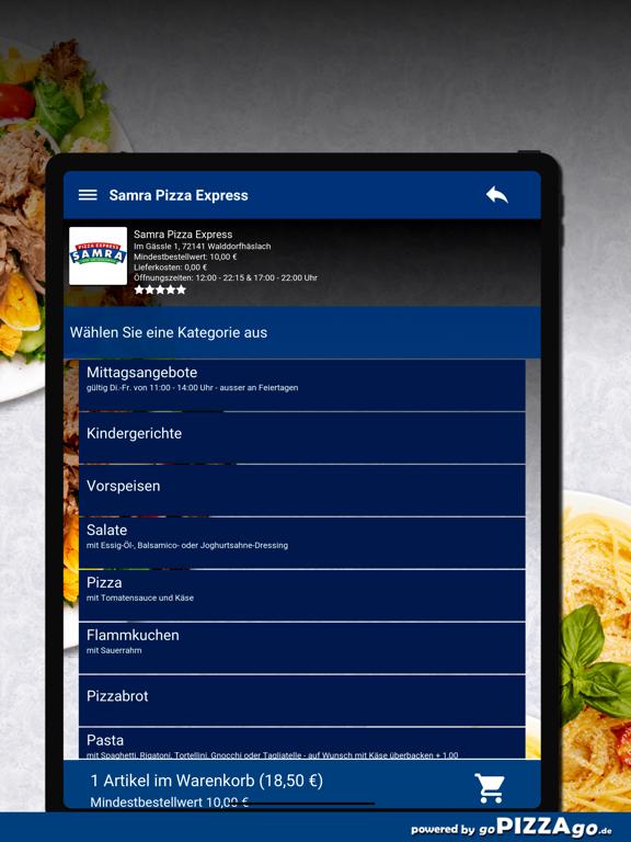 Samra Pizza Walddorfhäslach screenshot 8