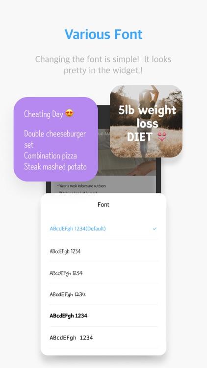 MemoWidget (todo&photo widget) screenshot-8