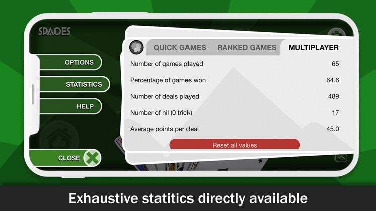 Spades card game online screenshot-3