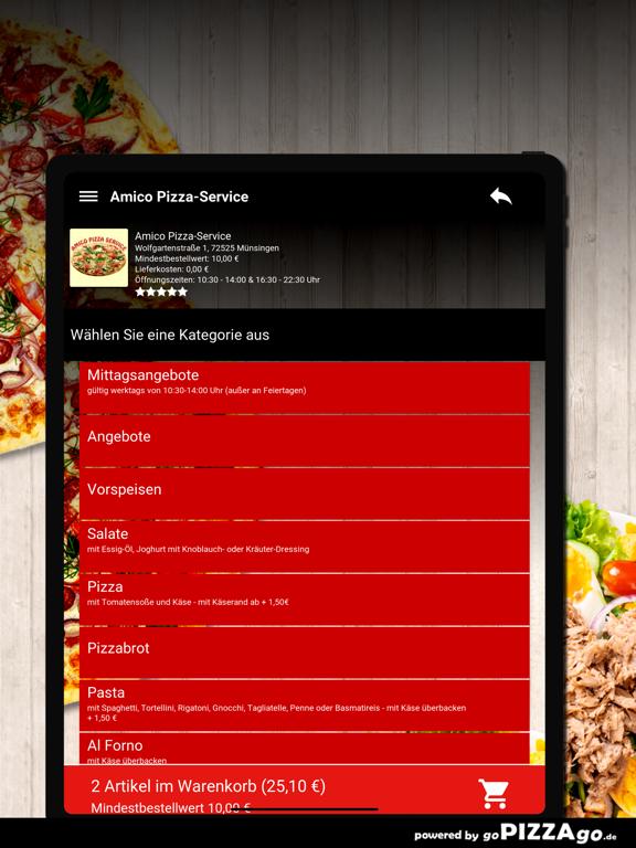 Amico Pizza-Service Münsingen screenshot 8