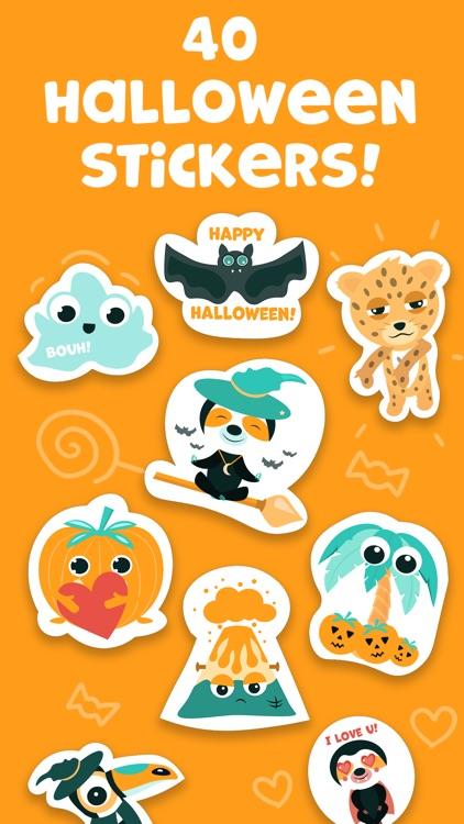 Tropicoji Halloween Stickers