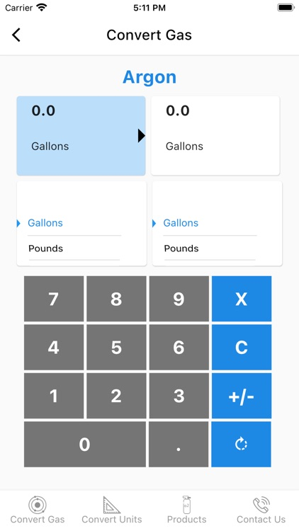 Gas and Unit Converter