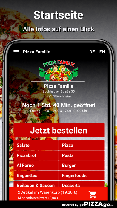 Pizza Familie Puchheim screenshot 2