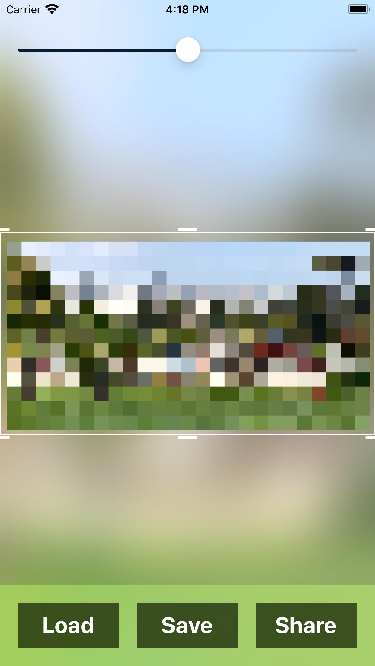 Screenshot do app Pixelizator