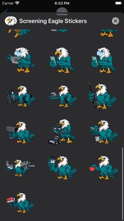 Screening Eagle Stickers