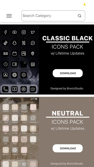 Brontz Aesthetic App Icons screenshot 4