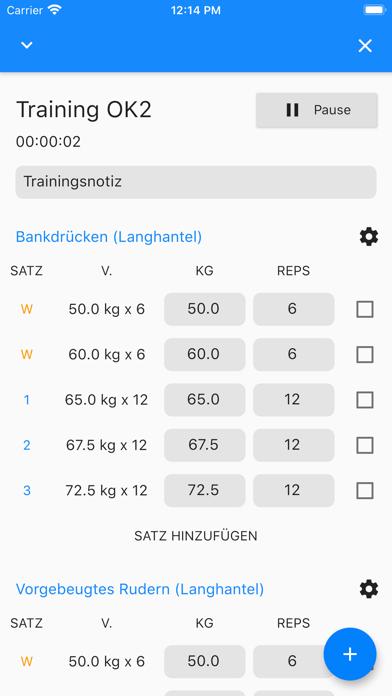 GymTime Workout TrackerScreenshot von 2