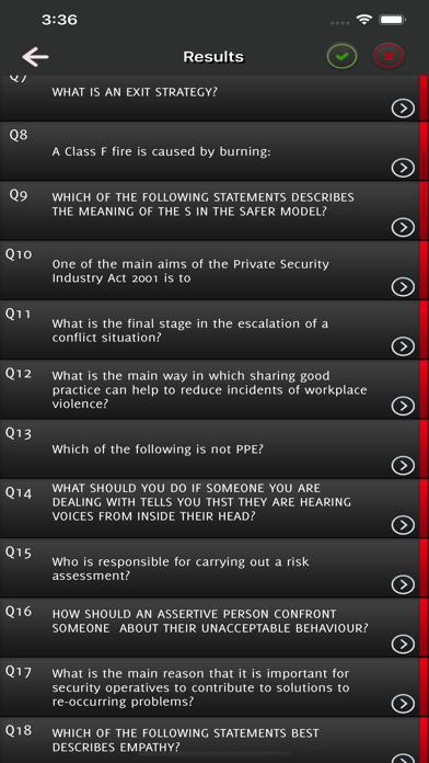 SIA Security Guard Exam Test screenshot 5