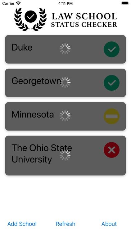 Law School Status Checker screenshot-3