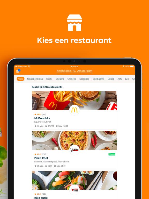 Thuisbezorgd.nl iPad app afbeelding 2
