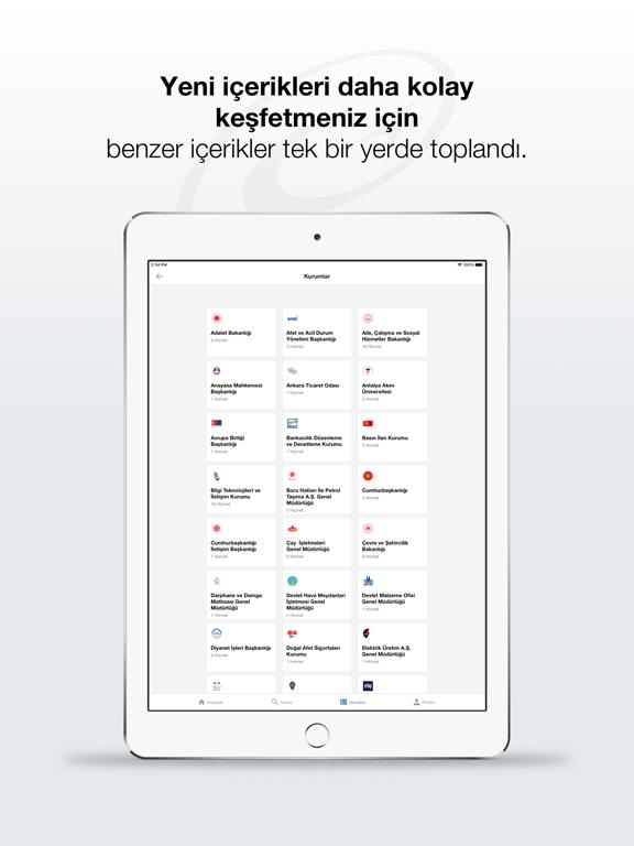 e-Devlet ipad ekran görüntüleri