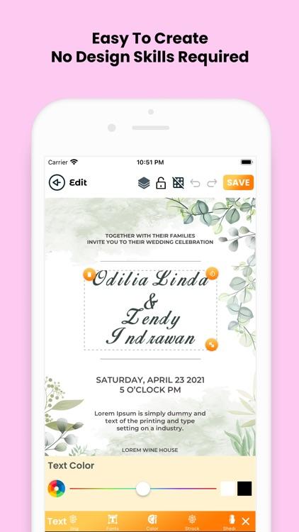 Invitation Card Maker (RSVP) screenshot-6