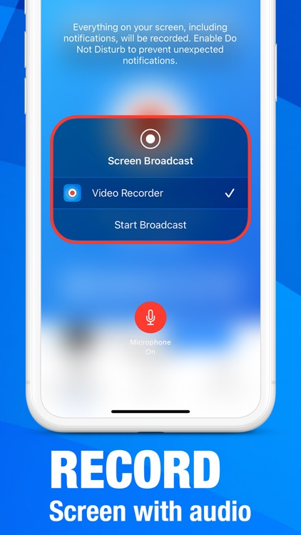 Screen recorder for iPad