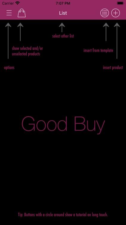 Good Buy - the shopping list screenshot-9