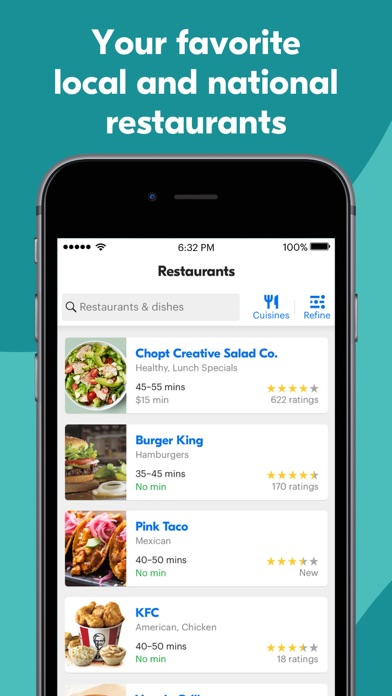 messages.download Grubhub: Local Food Delivery software