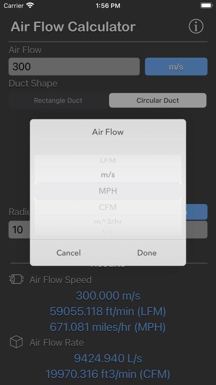 Air Flow Conversion Calculator screenshot-5