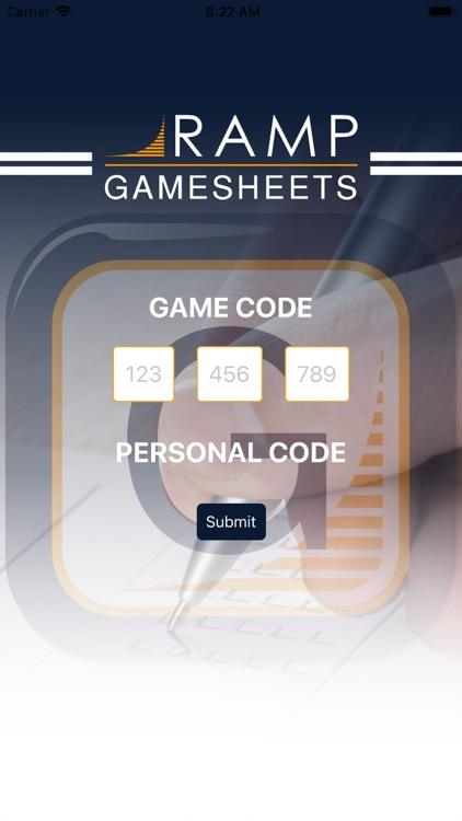 RAMP GameSheets
