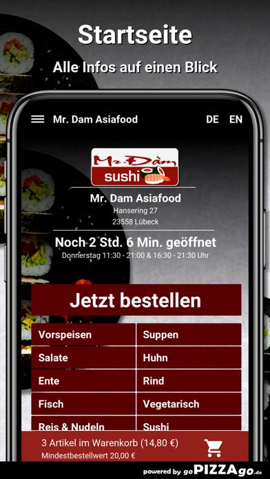 Mr. Dam Asiafood Lübeck screenshot 2