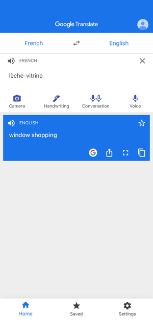‎Google Translate Screenshot