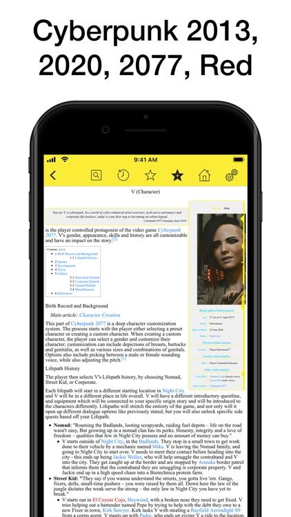 Pocket Wiki for Cyberpunk 2077