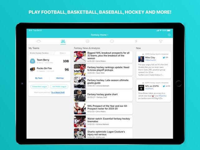 Espn Fantasy Sports More On The App Store