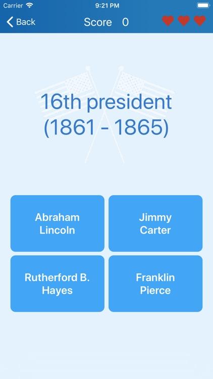 Presidents of the USA - quiz screenshot-3
