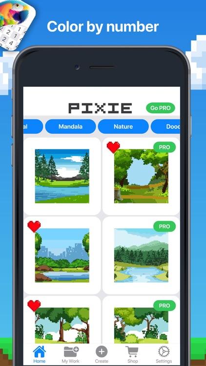 Pixie - Pixel Art Color Games screenshot-5