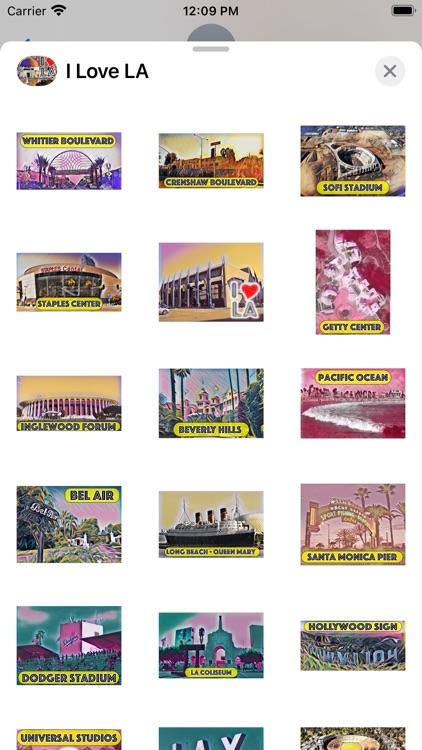 I Love LA Sticker Pack screenshot-3